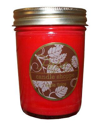 - Apple Spice Soy Candles, Highly Scented Soy Wax Candles 8 oz Jelly Jar Handmade