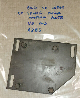 Emco Maximat Super 11 Lathe 3p Spindle Motor Mounting Plate A28s