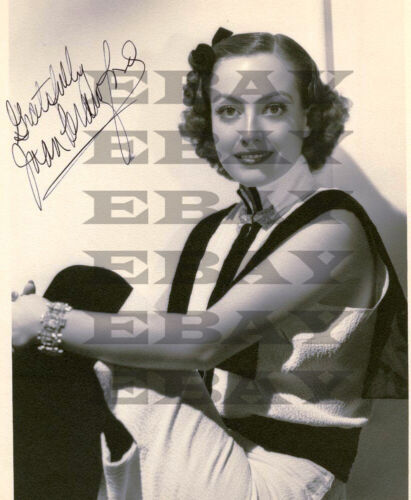 Joan Crawford Autographed Signed 8x10 Photo Reprint