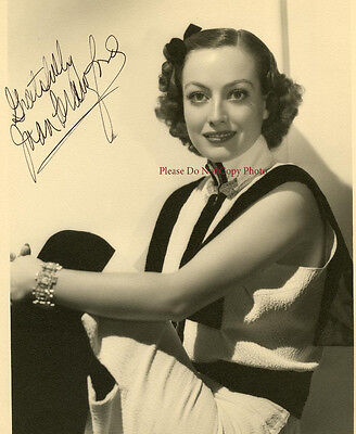 Joan Crawford  Vintage Autographed 8X10 Rp Photo