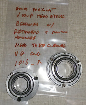 Emco Maximat V10-p Lathe Headstock Front Rear Bearings Retainers 1016m
