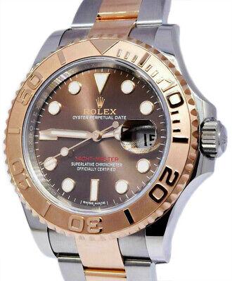 Rolex Yacht-Master 40 18k Everose Gold & Steel Chocolate Dial Mens Watch 116621