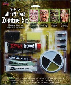 Zombie Makeup Kit Fun World - Halloween Horror Special FX Face Paint Blood Gore