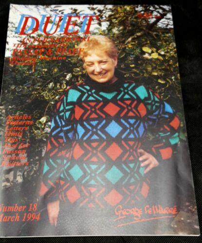 Duet International Magazine patterns Passap Pfaff Knitting Machines March 1994