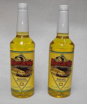 2 Pack Gourmet Banana Syrup 32oz. Coffee Drink Italian Soda Flavor
