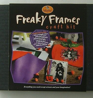 Halloween Craft Kit Freaky Frame Maybe 2002 Costume Complete Set Easy Fun 6+ (Easy Halloween Craft)