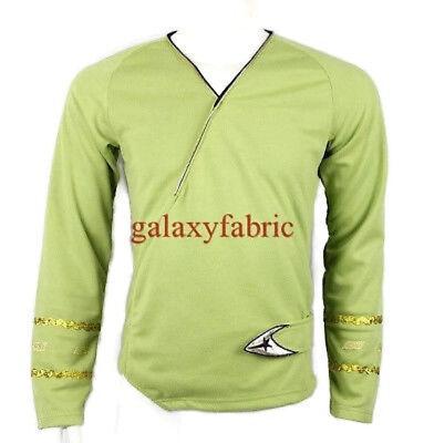 Star Trek Green Wrap Command Uniform Costume Shirt TOS The Original Series - Star Trek Uniform Shirts