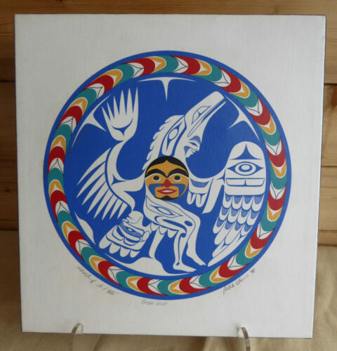 Northwest Coast Artist Patrick Amos Canvas Artist Proof 1988 Canada Native Art
