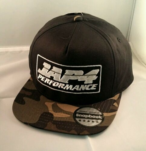 Jap4performance camo snap back cap with Jap4 logo camo cap
