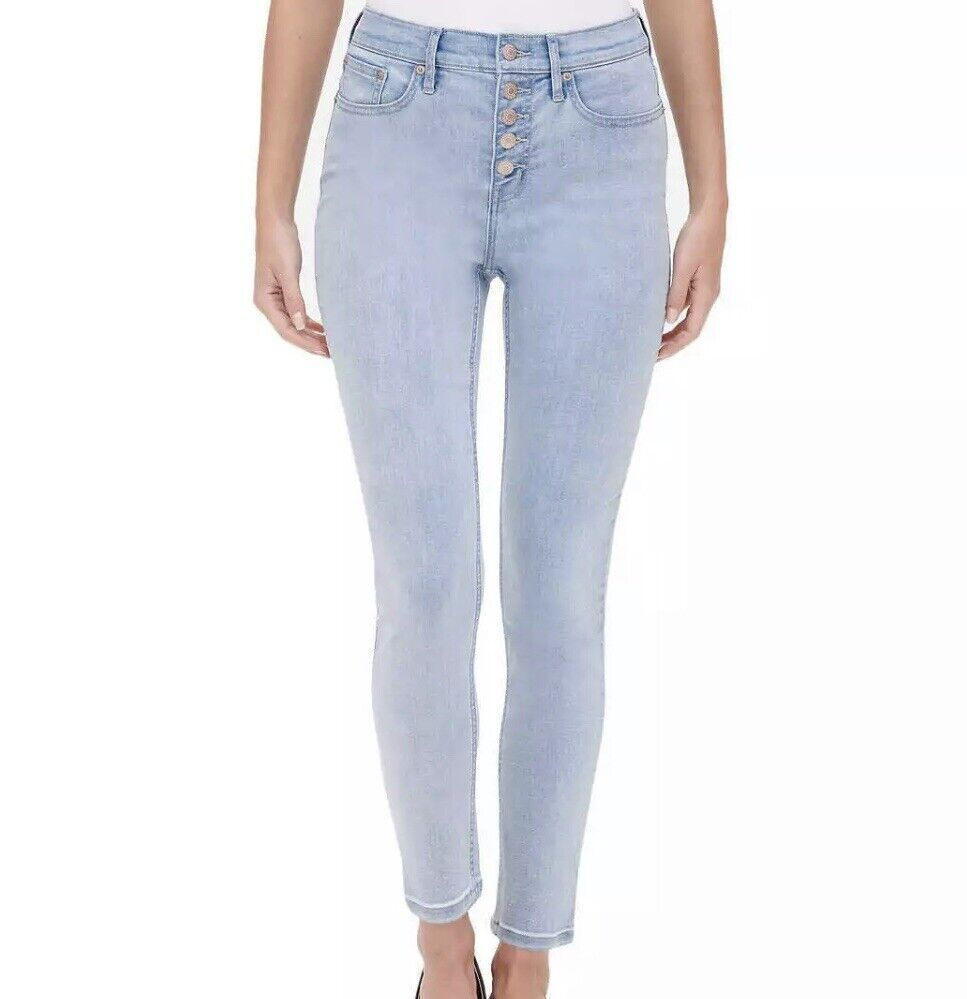 New Calvin Klein Jeans Women's Repreve Button Fly Skinny A