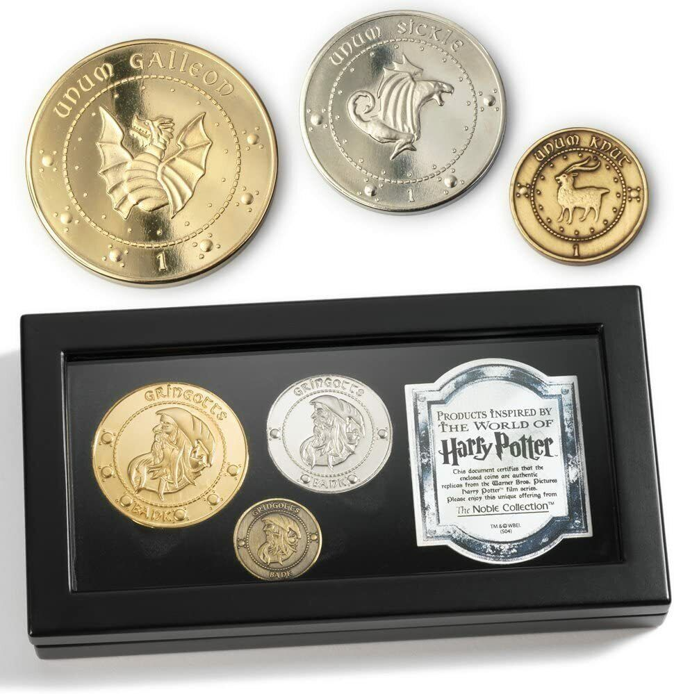 Harry Potter Gringotts Coin Collection Replica Authentic Noble Collection Collectibles