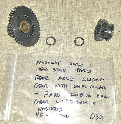 Emco Maximat Super 11 Lathe Headstock Rear Axle Sliding Gear Fixed Gear 0501