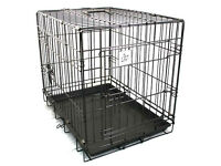 2 X Small dog crates - 1 for car 1 for home - ideal for puppy/small dog W62 x D44 x H49cm
