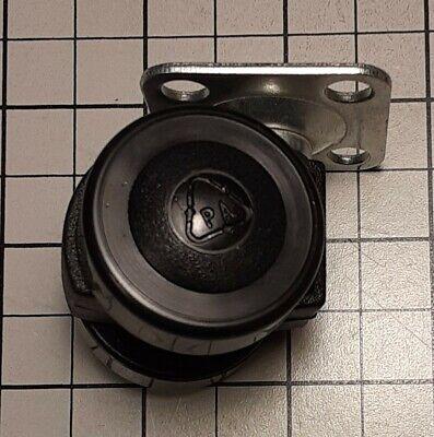 Swivel Twin Caster Wheels 1.375 Inch Nylon Plate Mount Black 40 Lbs 8 Pcs