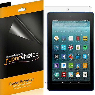 3X Supershieldz Clear Screen Protector For Amazon Fire 7 Tablet (2017 Release)