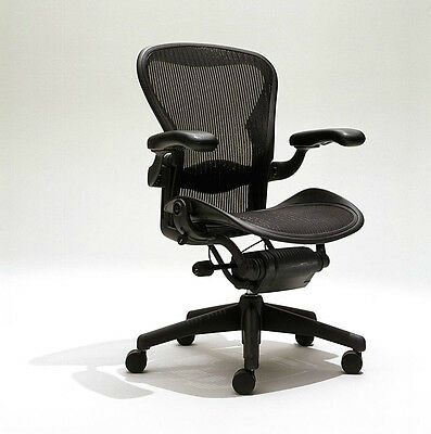 Herman Miller Aeron Mesh Desk Office Chair Large Size C Fully Adjustable Lumbar
