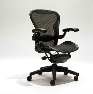 Herman Miller Aeron Mesh Office Desk Chair Medium Sz B fully adjustable lumbar  sc 1 st  eBay & Herman Miller Office Chair | eBay
