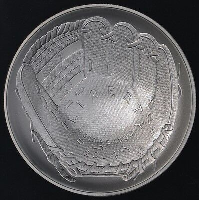 2014 Baseball Hall of Fame Commemorative Silver Dollar Original Box & COA