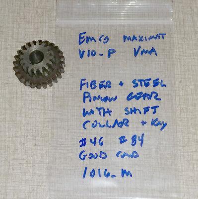 Fiber Pinion Gear Emco Maximat V10-p Lathe Blue Vertical Milling Parts 1016m