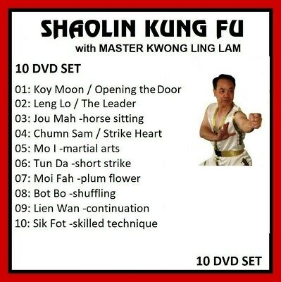 SHAOLIN KUNG FU 10 DVD SET with KWONG WING LAM 10 Hand Sets gung fu jeet kune do