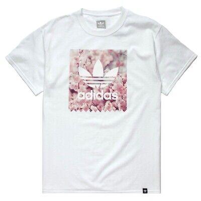 adidas Blackbird TREFOIL CHERRY BLOSSOM TEE T-Shirt White Japan CJ6961 Rare NEW Japan White Tee