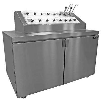 Nor-lake Zr152sms0 54in Ice Cream Topping Cooler Cabinet 16 Topping Syrup Rail