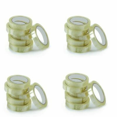 25 Tape Rolls Of CLEAR STRONG Parcel Tape-Packing sellotape Packaging 24mm x 66m