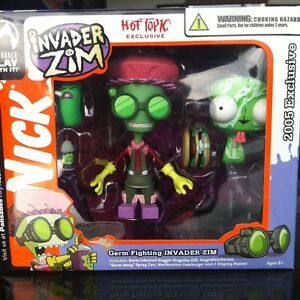 Invader-Zim-Palisades-Toys-Exclusive-Set-Hot-Topic-Germ-Fighting-GIR-McMeaties