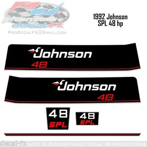 1992-Johnson-48-HP-SPL-Outboard-Reproduction-5-Piece-Vinyl-Decals