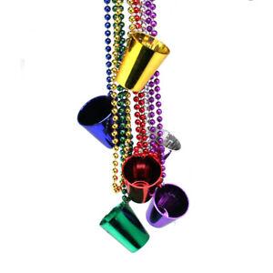 Mardi Gras Shot Glass Bead Necklaces