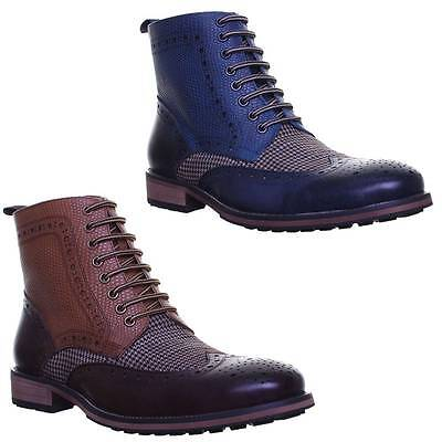 Justin Reece Brooke Mens Smart Casual Ankle Boots Two Tonen UK Size 6 - 12