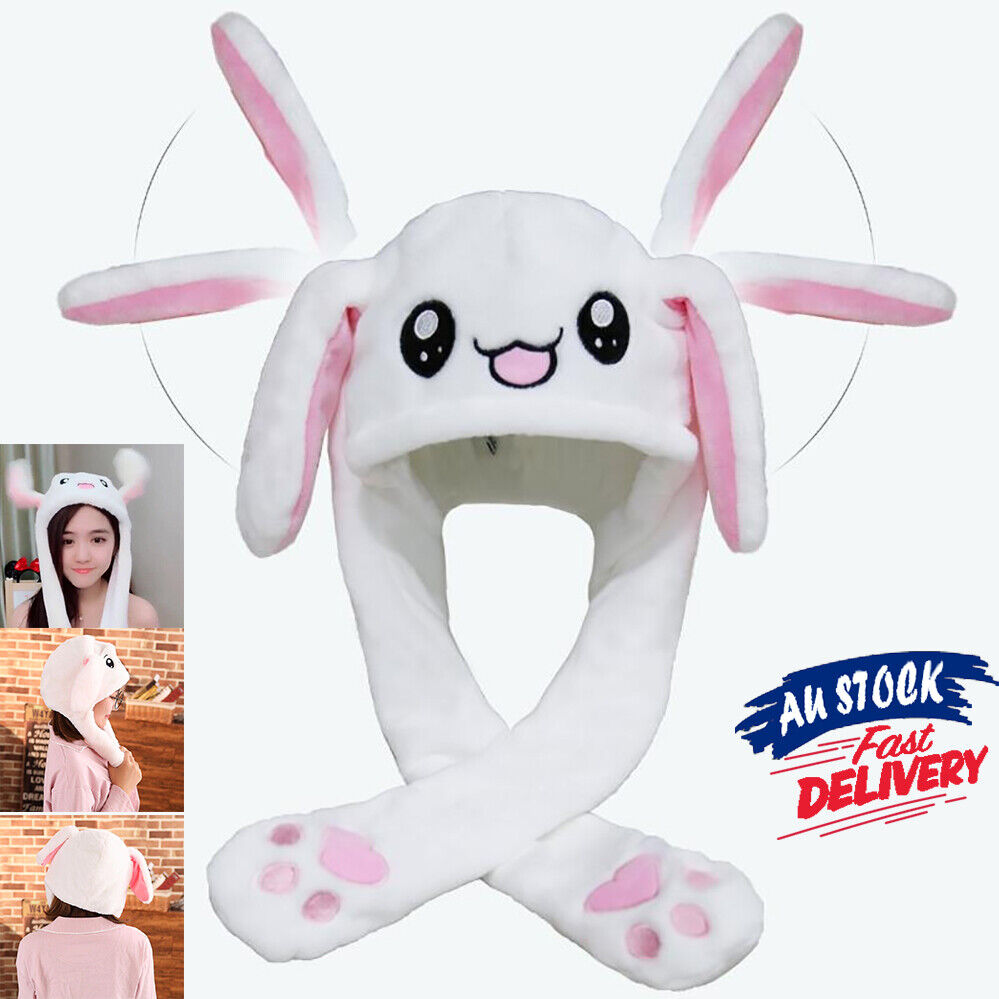Cute Hat Rabbit Bunny Ears Will Move The Rabbit Hat Girls Gift As seen on TV