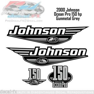 2000-Johnson-Ocean-Pro-150-HP-Outboard-Reproduction-4-Piece-Vinyl-Decals