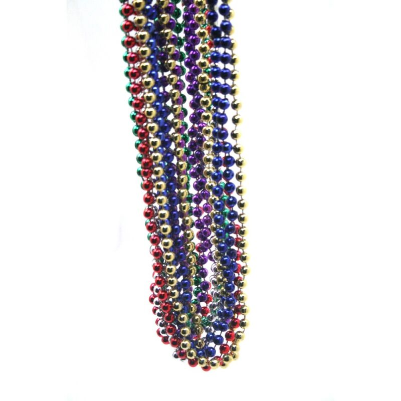 Assorted Color Mardi Gras Throw Bead Necklaces