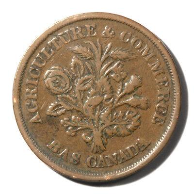 Canada Quebec Bank Of Montreal Un Sou Token Undated Vf  Xf Details Kmtn4 Breton