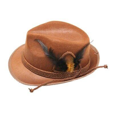 Brown Tyrolean Oktoberfest Hat - Octoberfest Hat