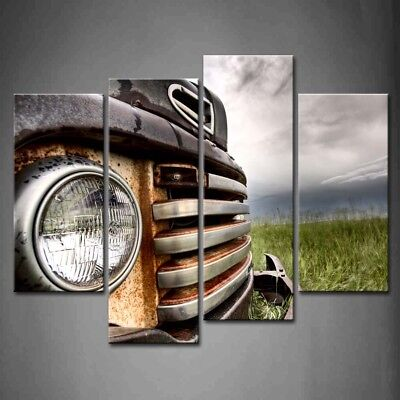 Framed Old Vintage Cars Wall Art Painting Pictures Canvas Print Car (Car Canvas Art)