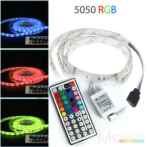 3M 5050 IP65 RGB LED STRIP LIGHTING IDEAS TV BACK LIGHTS COLOUR CHANGING RIBB
