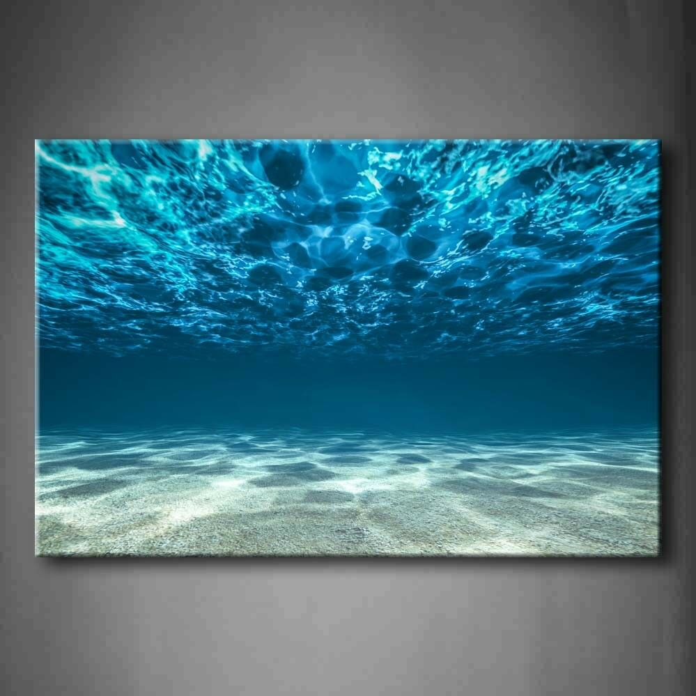 First Wall Art - Blue Ocean Bottom View Beneath Surface Wall