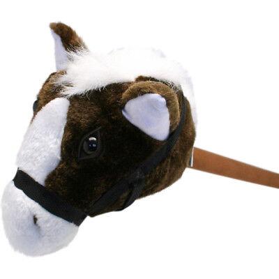 plush brown stick horse