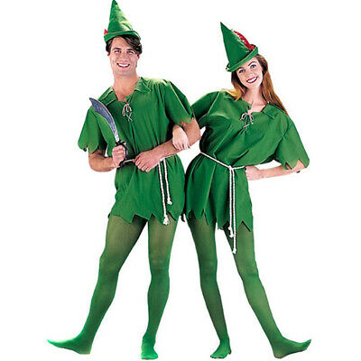 Peter Pan Robin Costume Halloween Party Unisex Green - Peter Pan Dress Up Kostüme