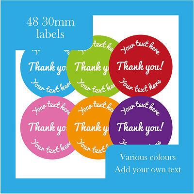 Thank you aufkleber welches dose personalisieren- verschiedene farben erhältlich