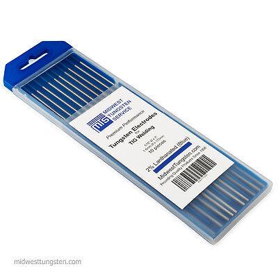 Tig Welding Tungsten Rod Electrodes 2 Lanthanated 116 X 7 Blue Wl20 10pk