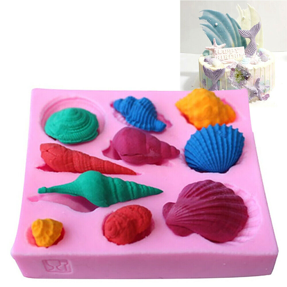 3D Seashell Silicone Mold Chocolate Cake Mould Decoration Soap Candle Making