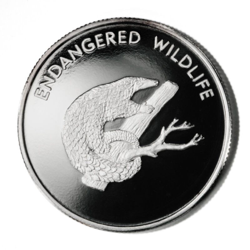 Malawi Endangered Wildlife Pangolin Scaly Anteater 10 Kwacha 2005 Proof Silver C