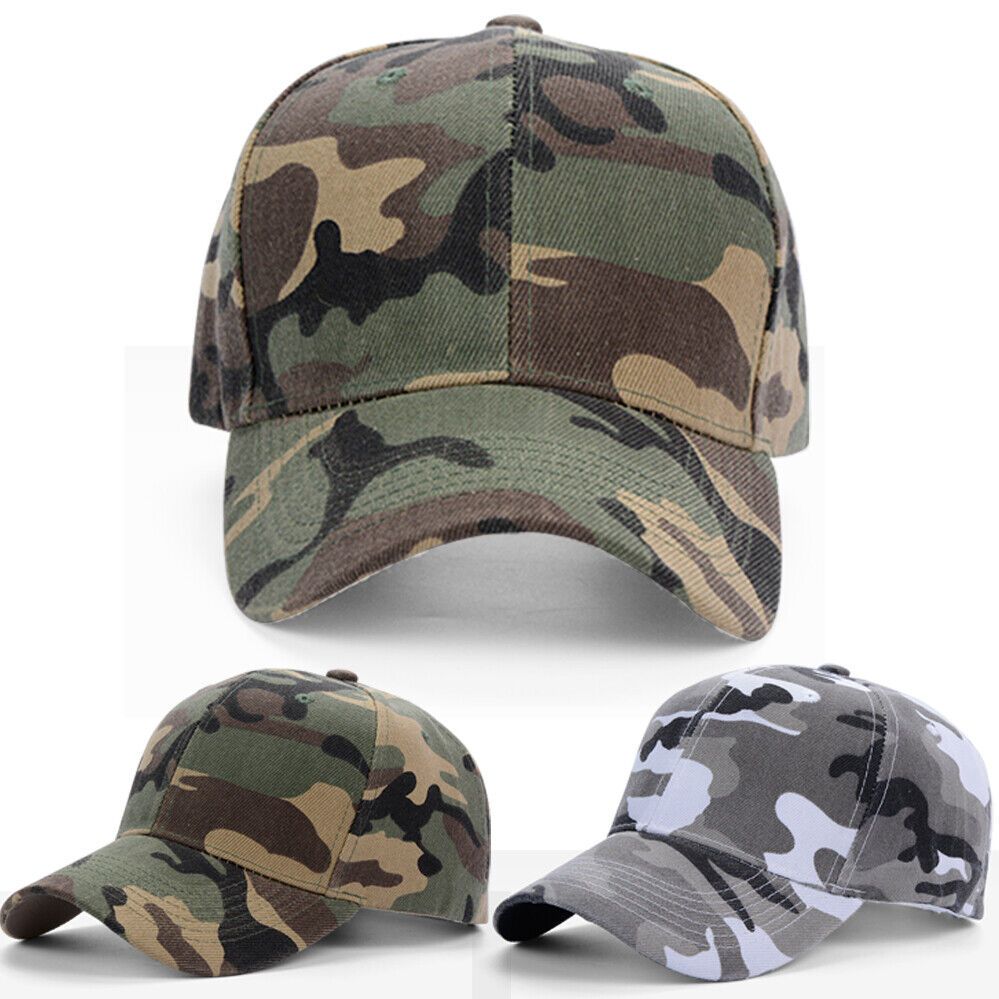 Military Men Army Outdoor Camouflage Women Trucker Camo Hat EU Baseball Cap