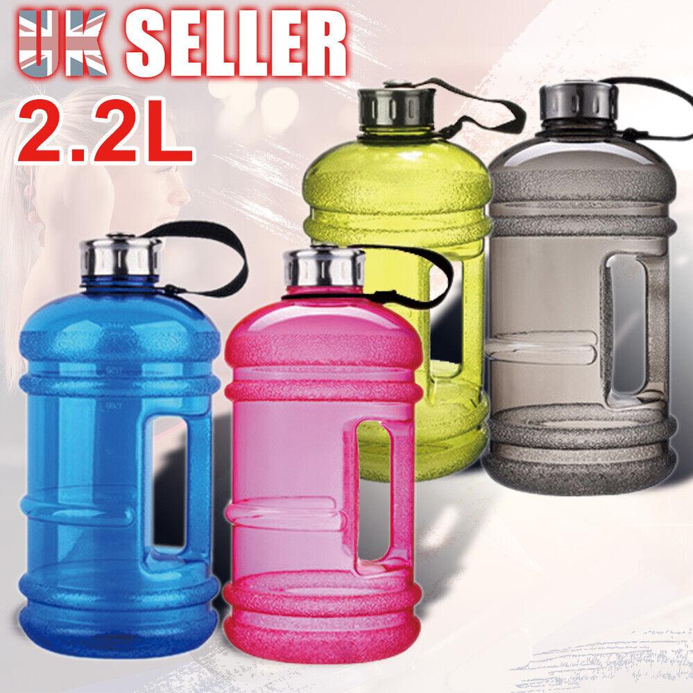 2.2L Large Drink Water Bottle Cap Big BPA Free Gym Training Sport Kettle Workout