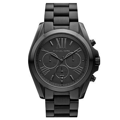 Michael Kors MK5550 Bradshaw All Black Tone Chronograph New Unisex Wrist Watch