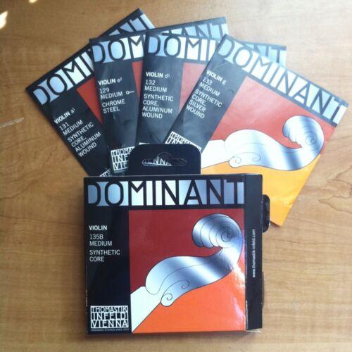Thomastik Dominant 135B Violin String Set *4/4* Ball Ends (Medium,SyntheticCore)