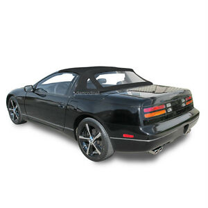 Convertible Top Fits: Nissan 300ZX 1993-1995 With Plastic Window Black Vinyl